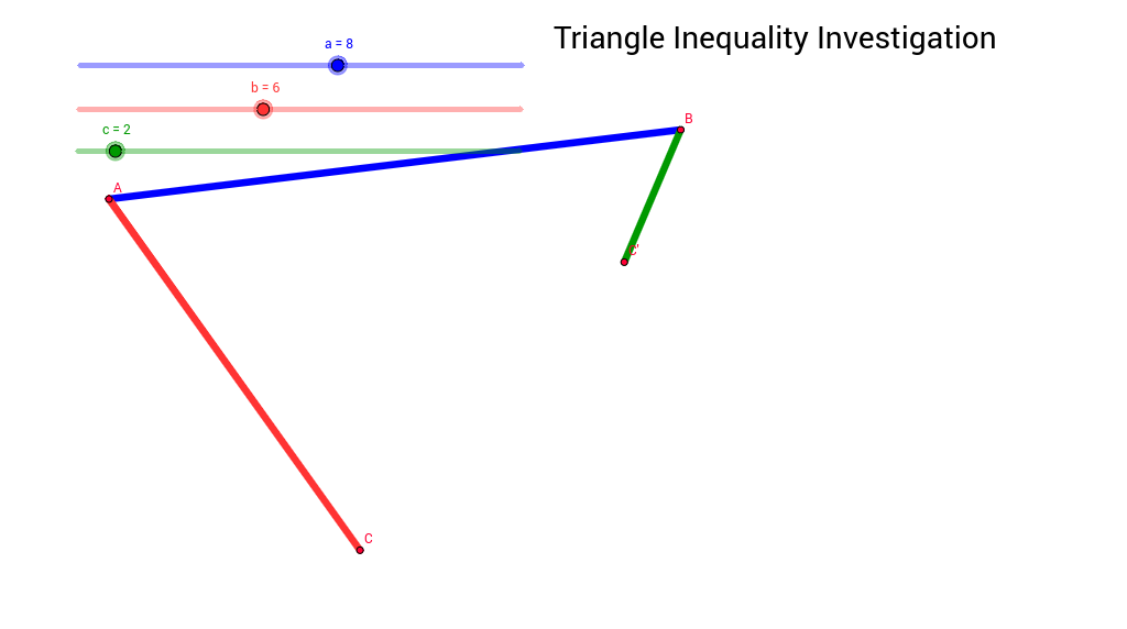 Triangle Inequality Investigation GeoGebra – Triangle Inequalities Worksheet