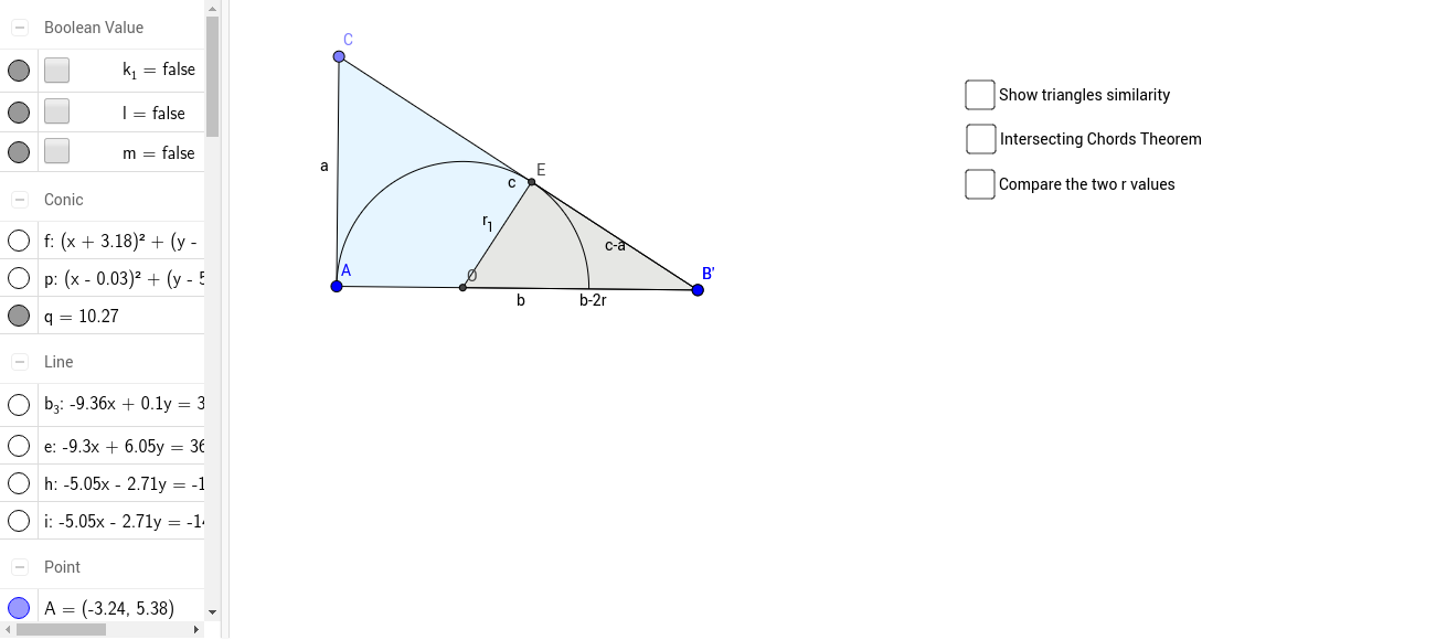 Pythagorean Theorem Proof 113 GeoGebra – Pythagorean Theorem Proof Worksheet