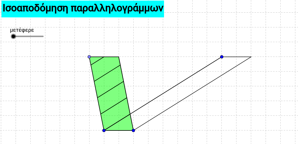 Equidecomposition of two parallelograms