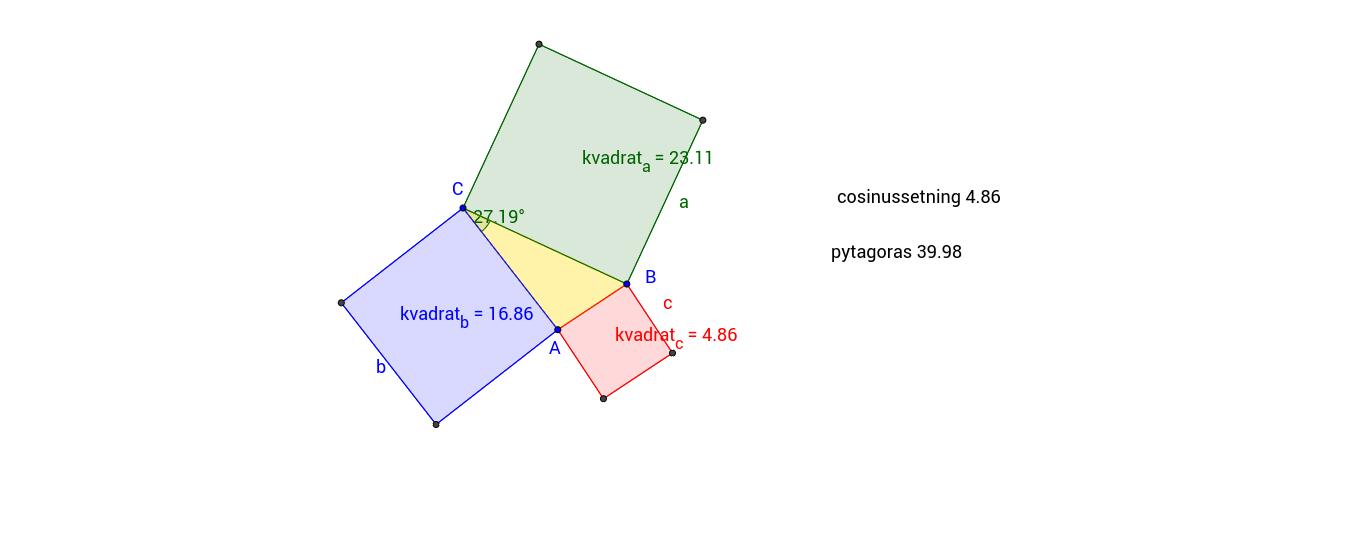 Cosinussetning og Pytagoras'ssetning