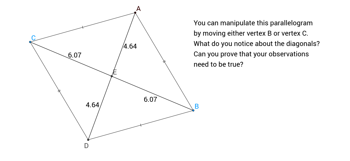 Parallelograms #4 - Relationship between Diagonals