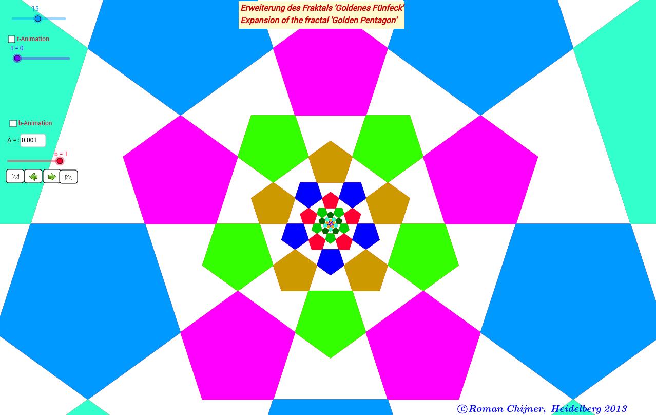 Erweiterung des Fraktals 'Goldenes Fünfeck'