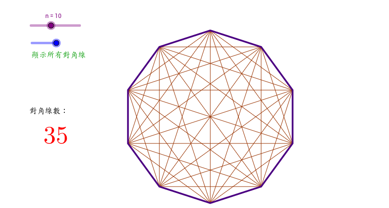 正多邊形的對角線
