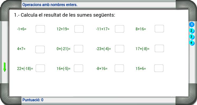 Operacions amb nombres enters