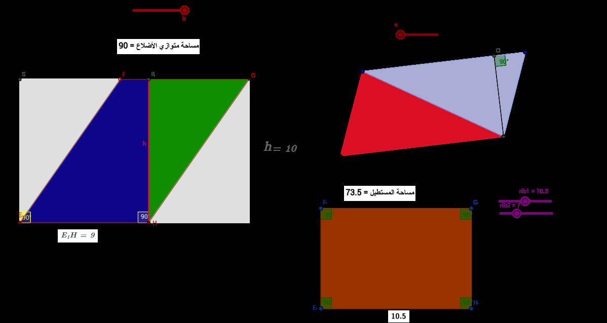 متوازي الأضلاع-قانون المساحة