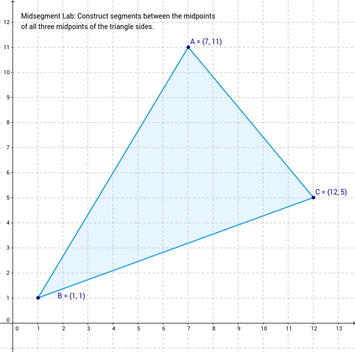 Investigating Midsegments in a Triangle