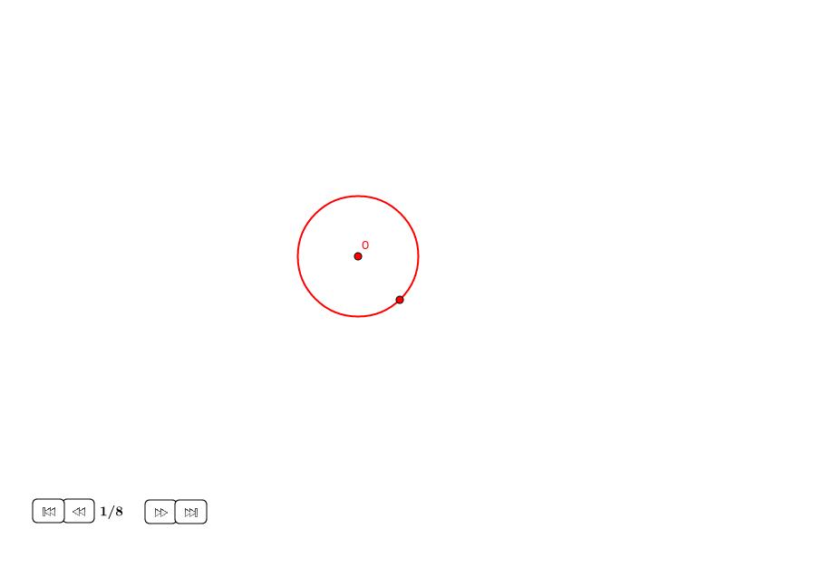 Triángulo equilátero alrededor de círculo