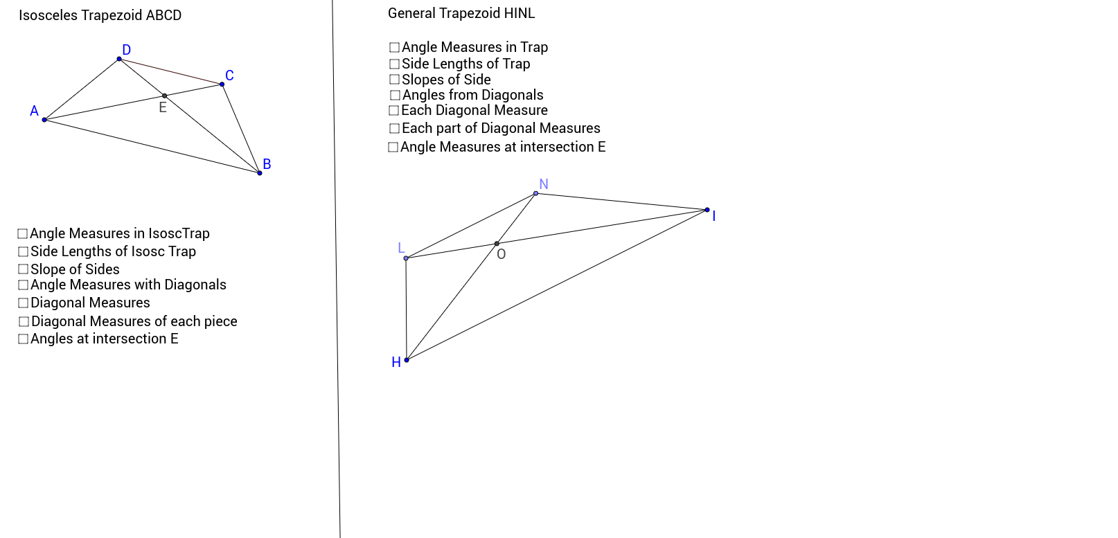 Worksheets Trapezoid Worksheet exploring properties of trapezoids geogebra view worksheet