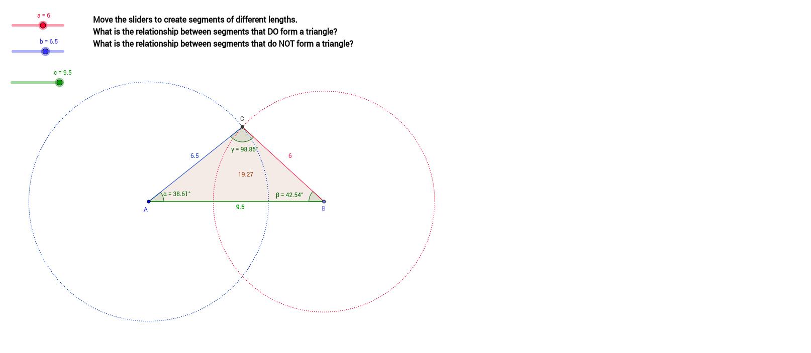 Triangle Inequality Theorem Exploration