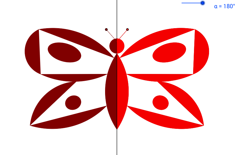 Schmetterling mit klappbarem Flügel