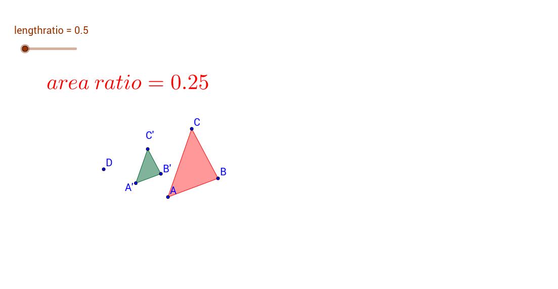 length ratio and area ratio of 2 similar figures
