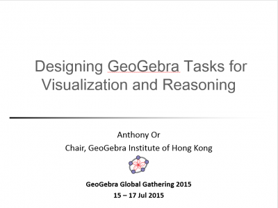 Designing GeoGebra Tasks for Visualization and Reasoning