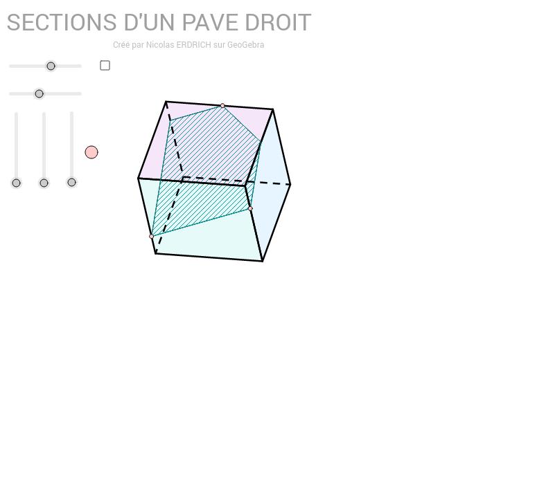 Sections d'un parallélépipède rectangle