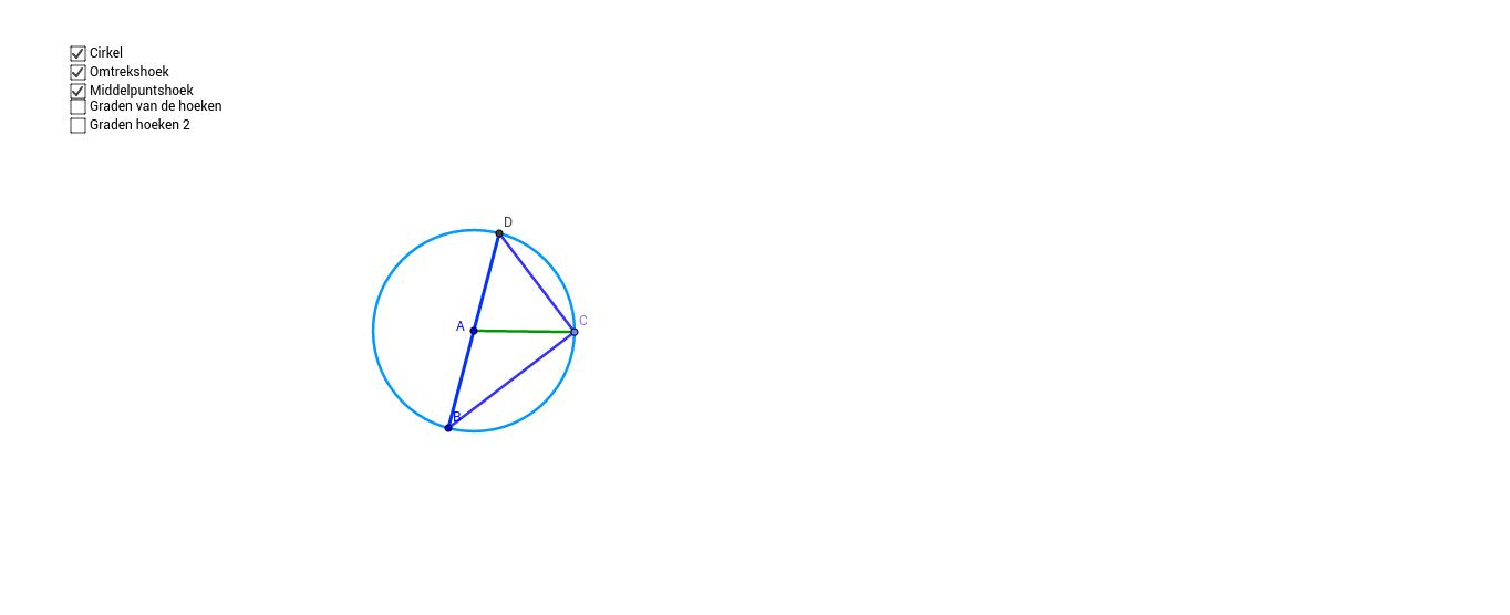 Stelling van de middelpunts en omtrekshoek