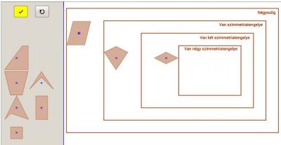 Négyszögek osztályozása 10. Tengelyesen szimmetrikusak