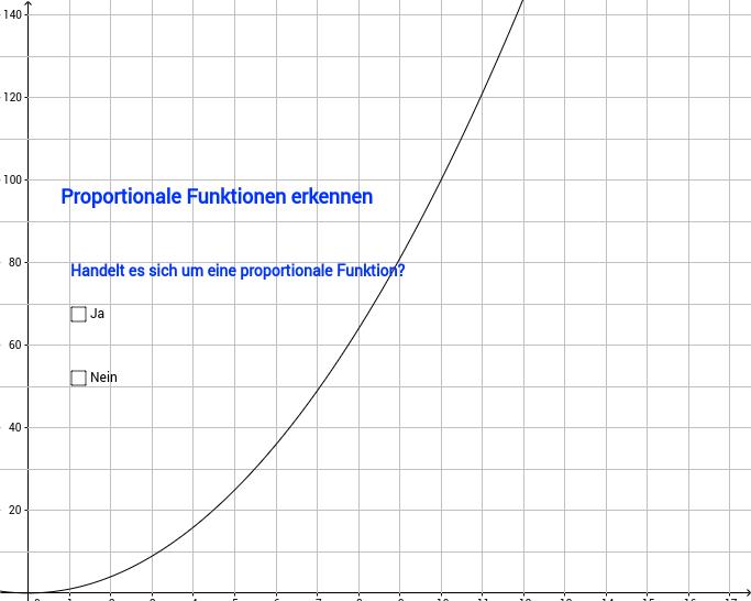 Proportionale Funktionen erkennen, Teil 2