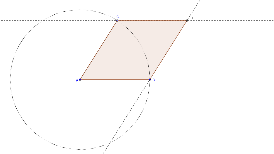 Rhombus Construction in GeoGebra