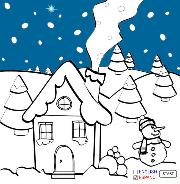 An animated Christmas Card
