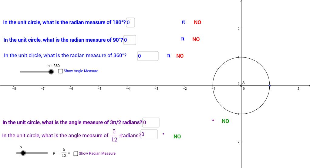 Radian Measures