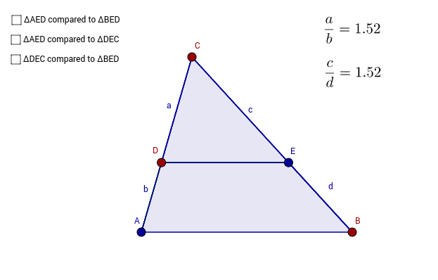 Copy of Triangle proportionality theorem