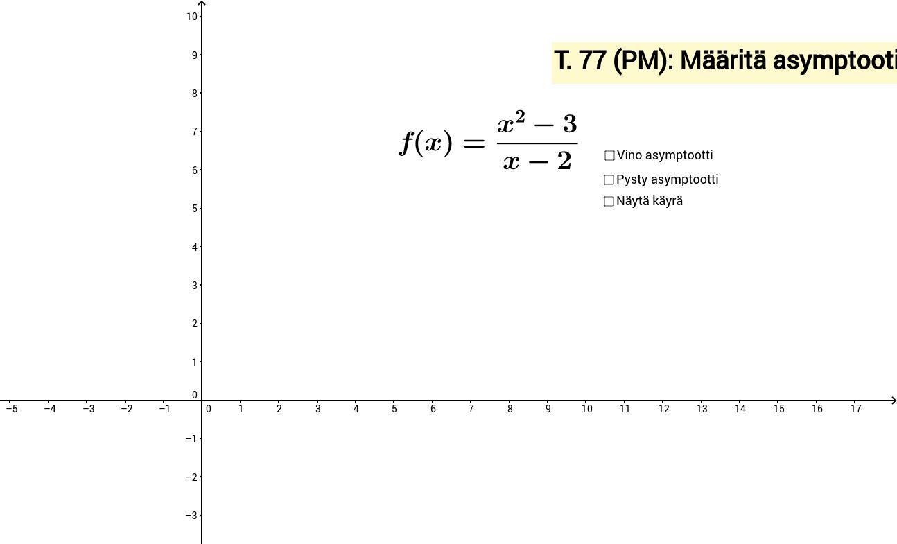 Käyrän asymptootit (t. 77/PM12)
