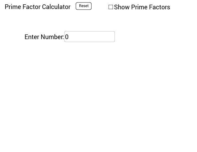 Prime Factor Calculator