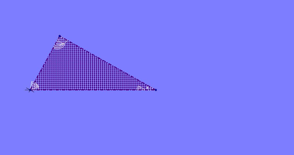 Suma de los ángulos internos de un triangulo versión 2.0