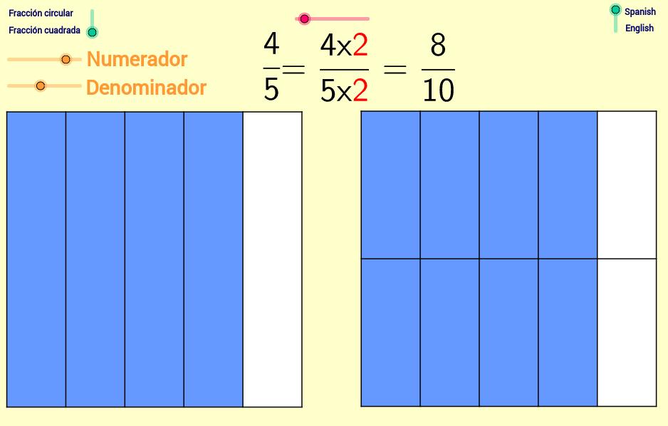 Amplificación de fracciones