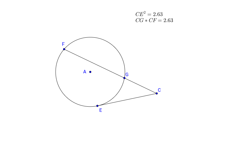 Demo of Secant Tangent Theorem