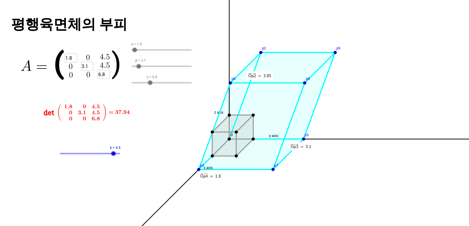 SKKU-Volume of parallelepiped