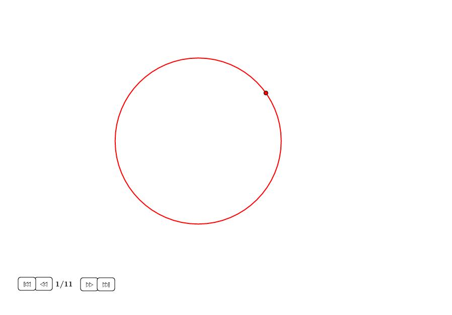 Centro de un círculo sólo con compás