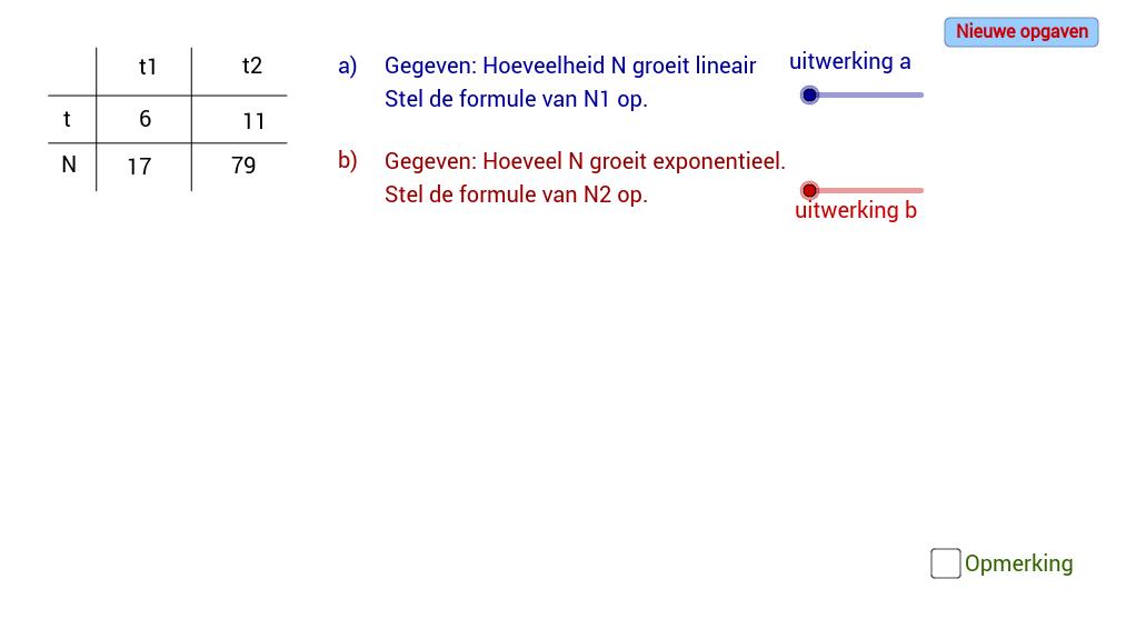 Lineaire versus exponentiele groei.