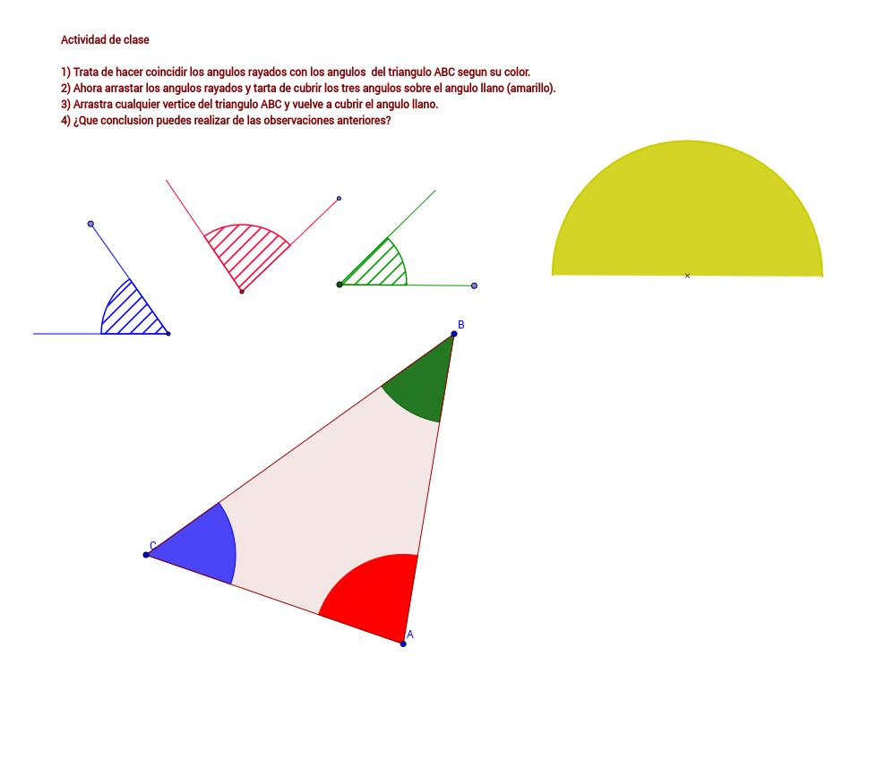 Suma de angulos de un triangulo