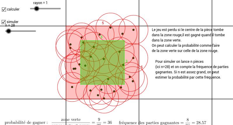 Probabilité et fréquence: le jeu du franc carreau