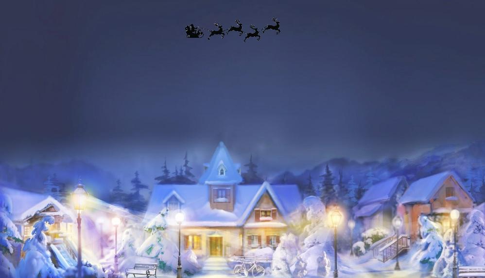Flyvende julemand - Animation