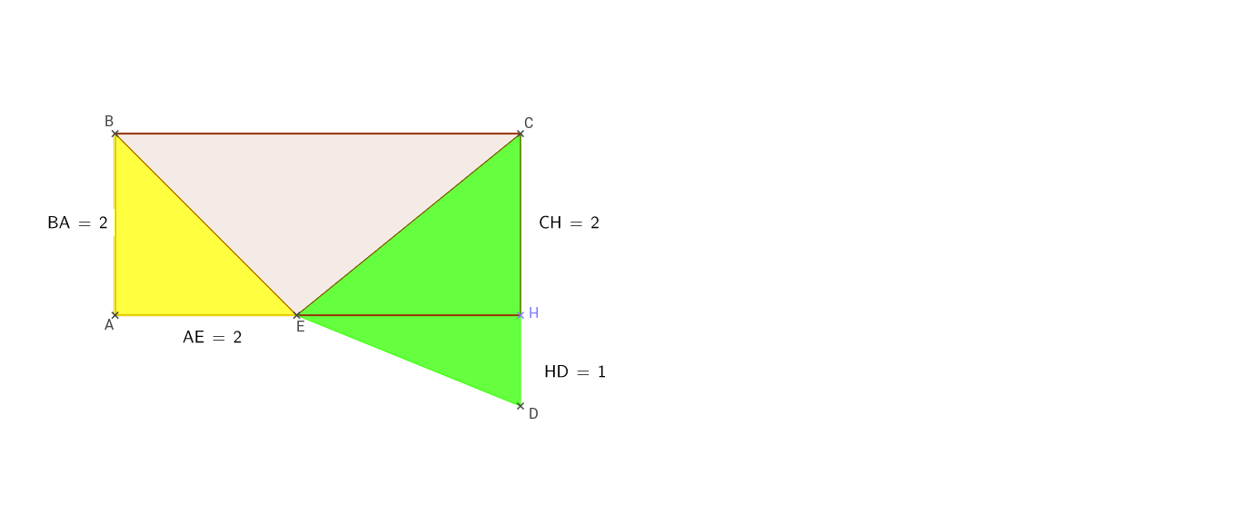 Rectangle et triangles