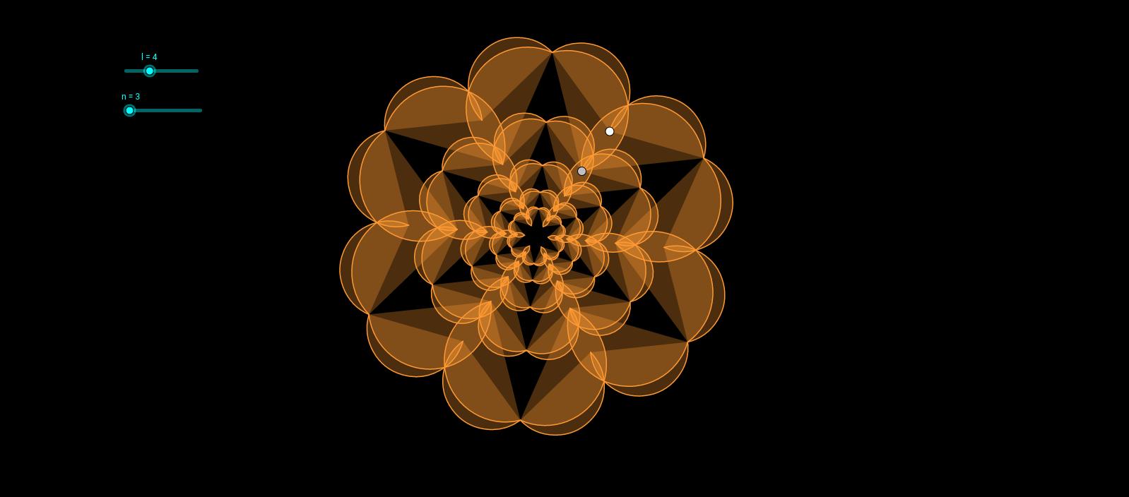 diseño radial con arcos