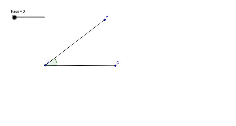 Bisectriz de un ángulo dado.