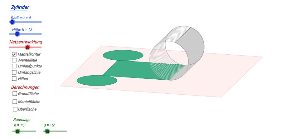 Zylinderoberfläche