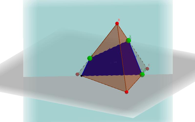 Sezioni di un tetraedro
