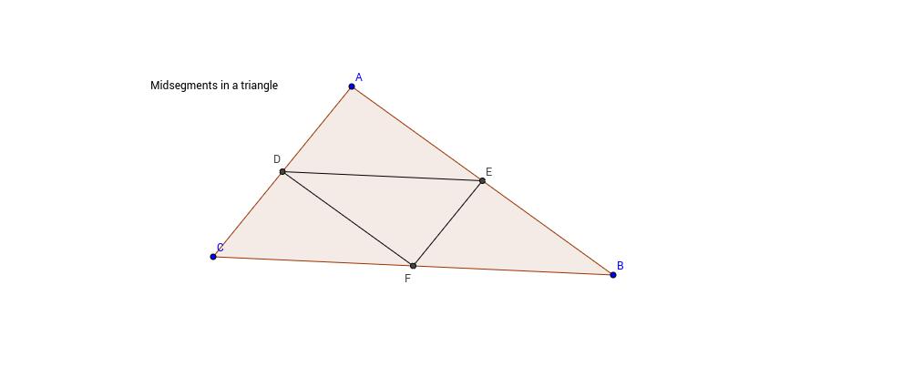 Midsegments in a triangle