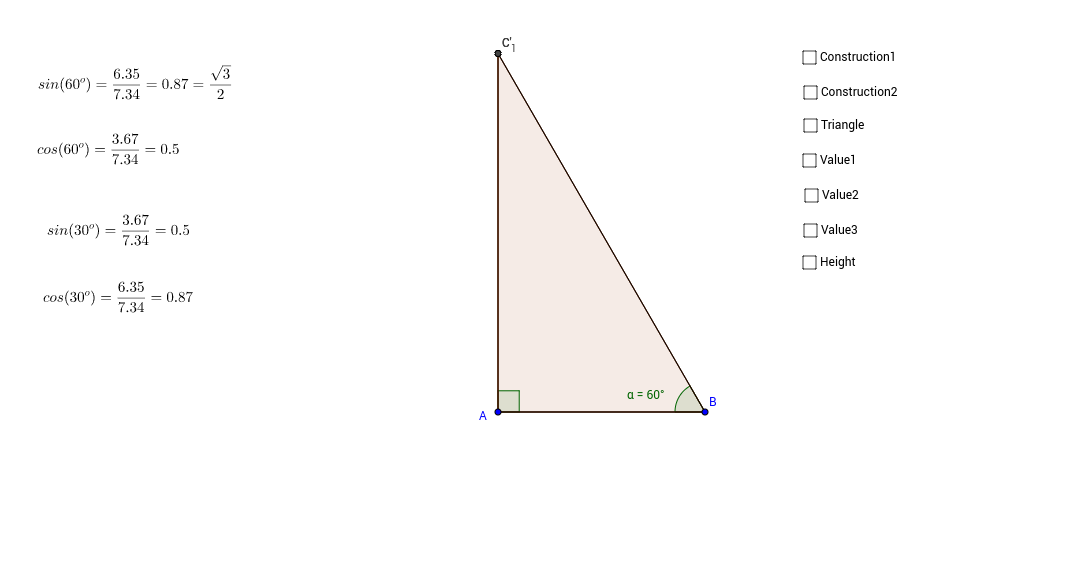 Finding Trigonometric Ratios in 30-60-90 triangle