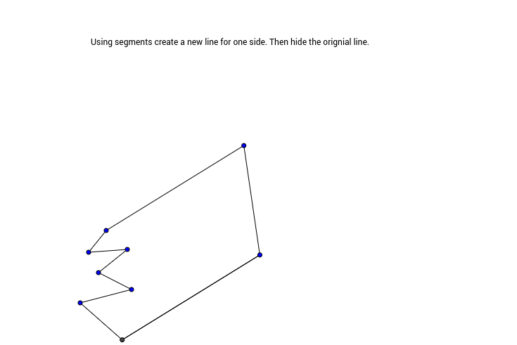 Step 2 in creating a tessellation