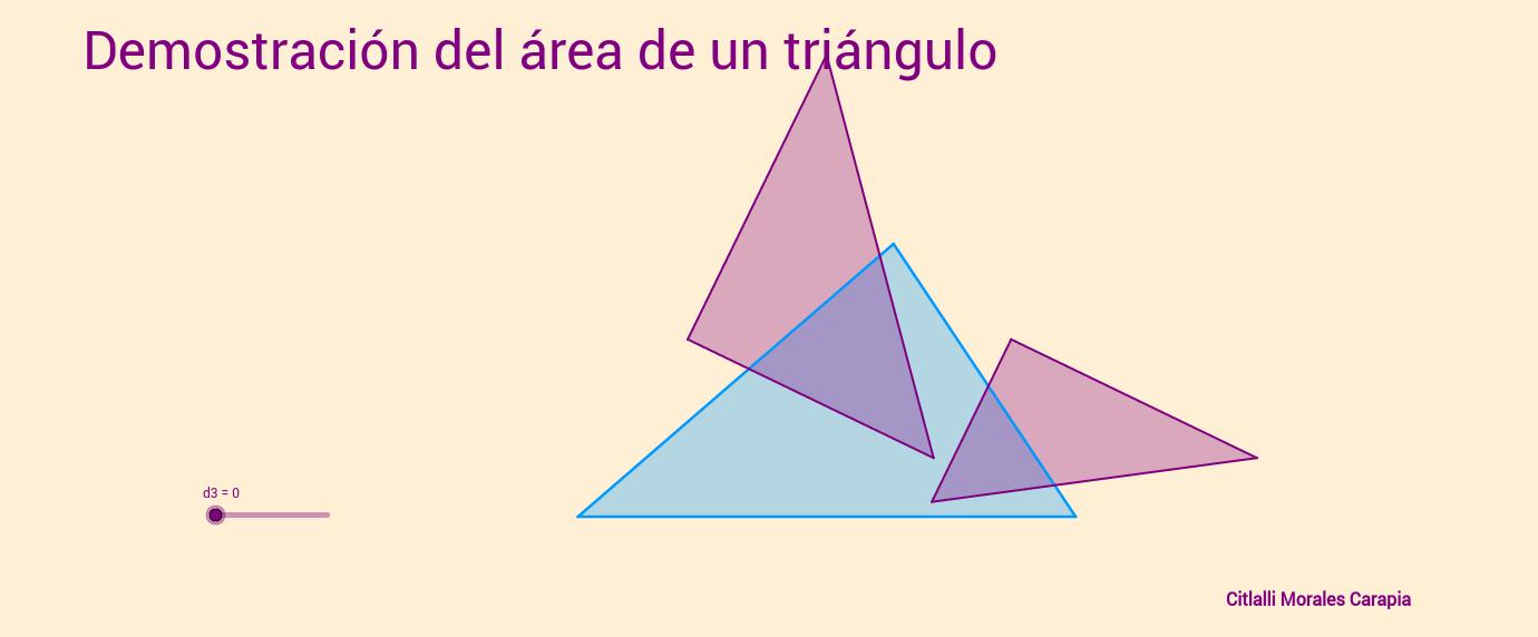 Demostración del área el triángulo