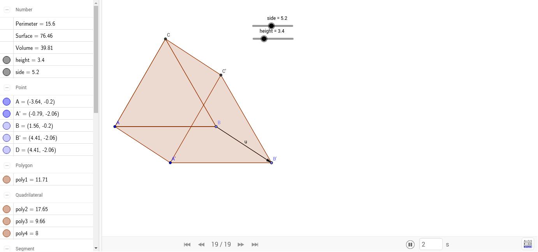 Equilateral Triangular Prism GeoGebra – Surface Area Triangular Prism Worksheet
