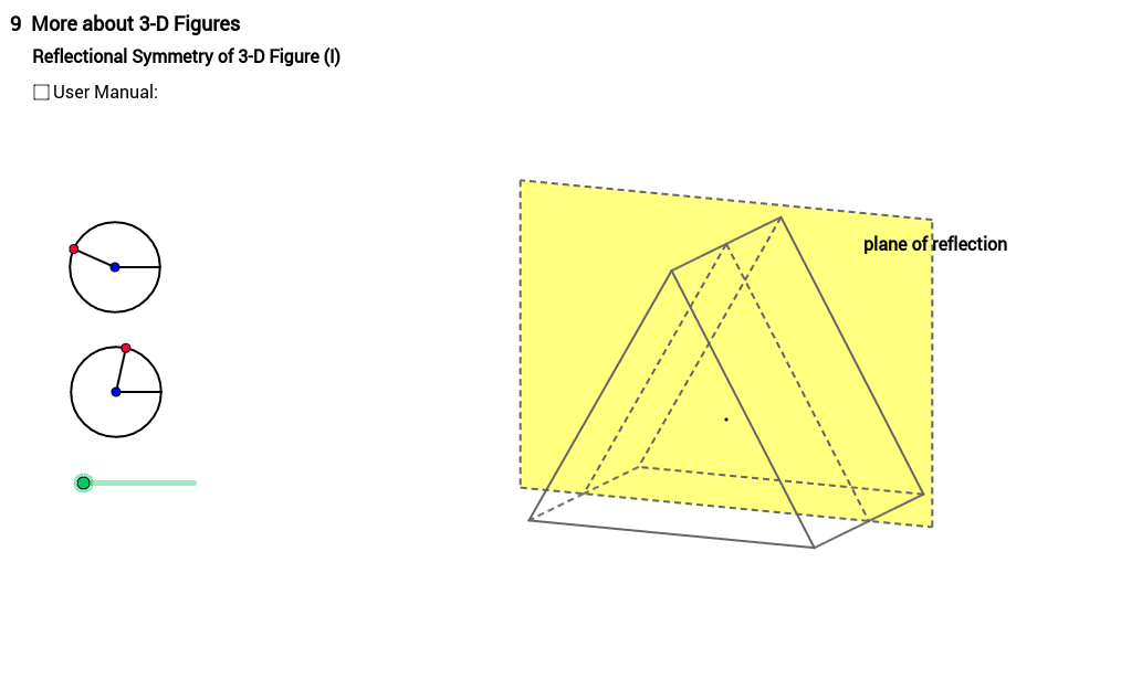 Reflectional Symmetry of Triangular Prism