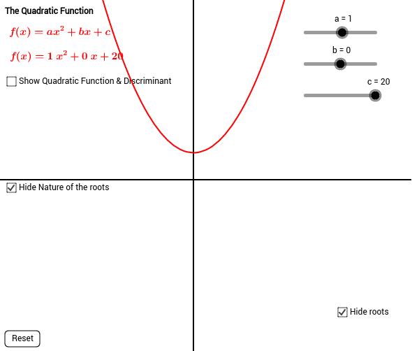 Quadratics with Discriminant