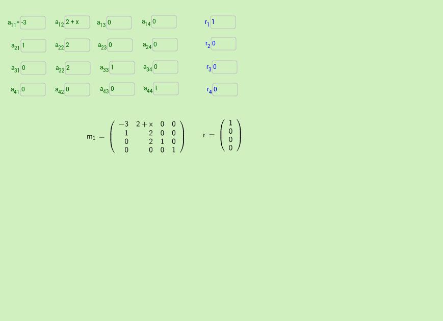 Matriz  Solucion de Sistemas de Ecuaciones  4x4