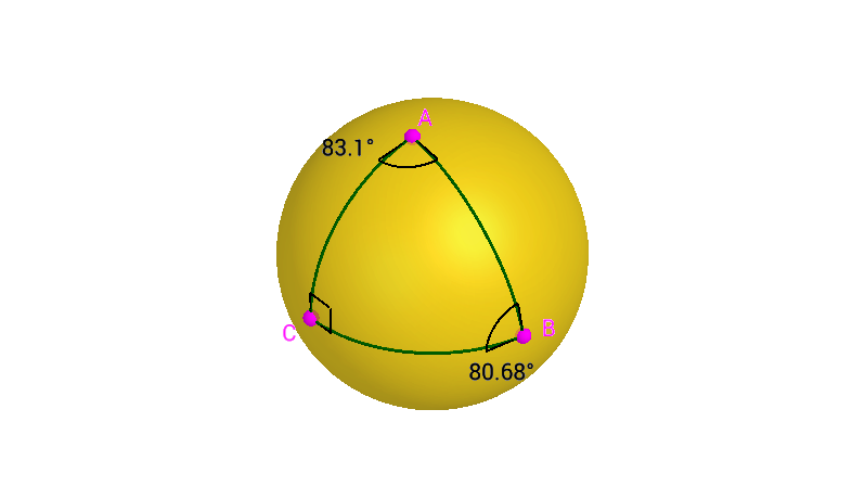 Question 8: A Spherical Right Triangle