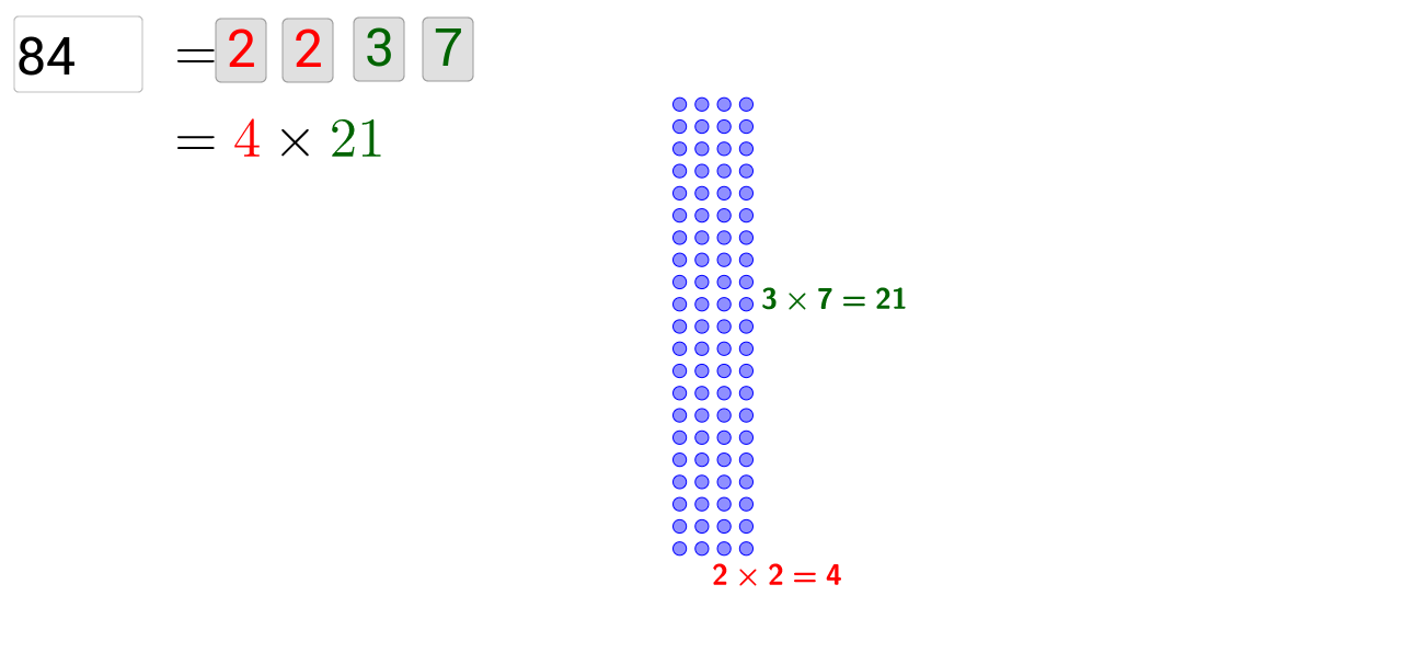 Factorization - Visual illustration of divisor pairs
